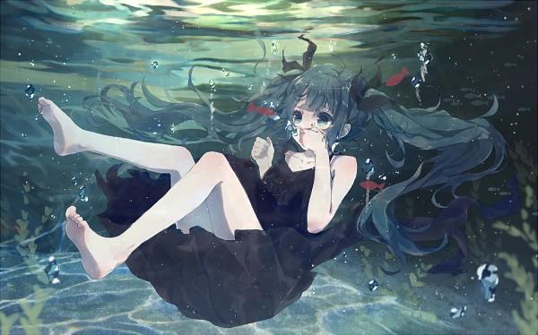 Tags: Anime, Bou Shaku, VOCALOID, Hatsune Miku, PNG Conversion, Fanart, Shinkai Shoujo, Pixiv, Fanart From Pixiv, Deep-sea Girl
