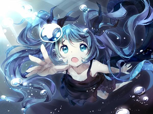Tags: Anime, Bisonbison, VOCALOID, Hatsune Miku, Fanart, Shinkai Shoujo, Pixiv, Fanart From Pixiv, Deep-sea Girl