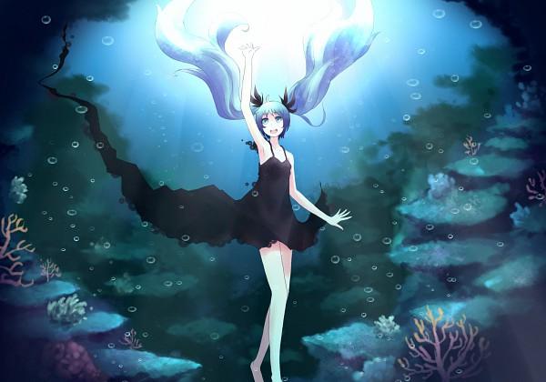 Tags: Anime, Minato (Shouno), VOCALOID, Hatsune Miku, Pixiv, Fanart, Shinkai Shoujo, Deep-sea Girl