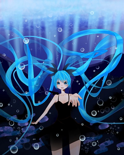 Tags: Anime, VOCALOID, Hatsune Miku, Shinkai Shoujo, Deep-sea Girl
