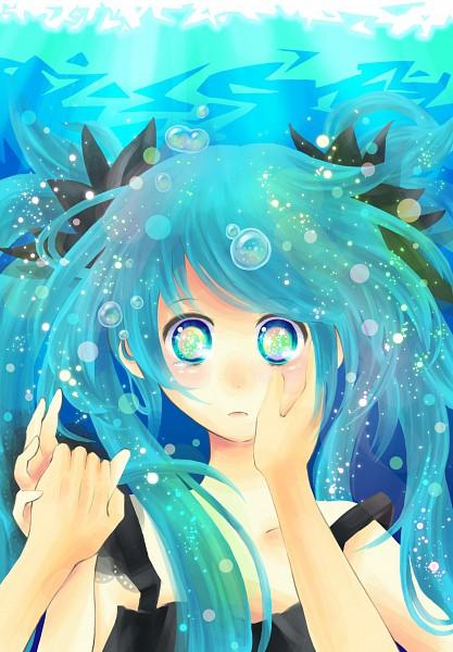 Tags: Anime, Luvxrab, VOCALOID, Hatsune Miku, Fanart, Shinkai Shoujo, Pixiv, Deep-sea Girl