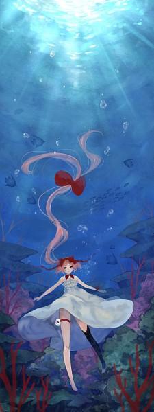 Tags: Anime, Pisuke, Sanrio, VOCALOID, Hello Kitty, Nekomura Iroha, Hello Kitty (Parody), Pixiv, Shinkai Shoujo, Deep-sea Girl