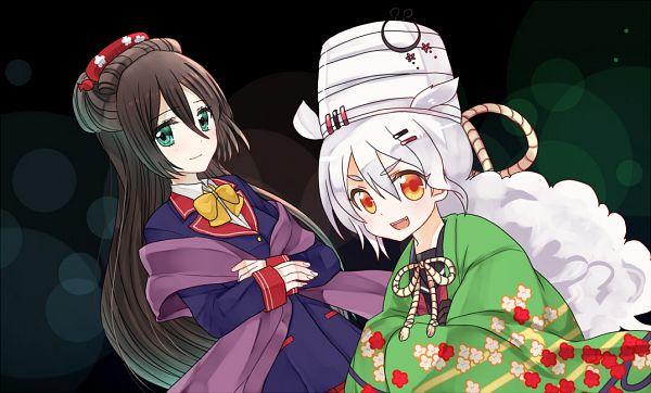 Tags: Anime, Pixiv Id 15252331, Shinken!!, Onimaru Tsuna, Mezuru Ichimonji, Pixiv, Fanart, Fanart From Pixiv