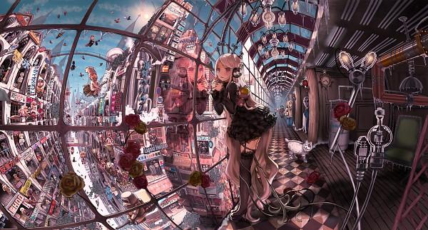 Tags: Anime, JohnHathway, Shinkukan Girls, Tokyo, Chandelier, Facebook Cover, Pixiv