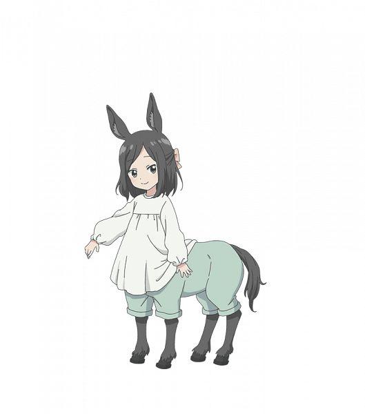 Tags: Anime, Shibuya Sakae, Encourage Films, Centaur no Nayami, Shino (Centaur no Nayami), Centaur, PNG Conversion, Official Art, Cover Image