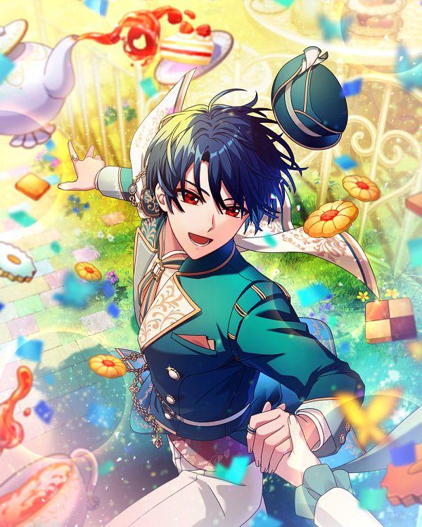 Tags: Anime, Mahoutsukai no Yakusoku, Shino (Mahoutsukai no Yakusoku), Alice in Wonderland (Parody), Green Jacket, Official Card Illustration, Official Art