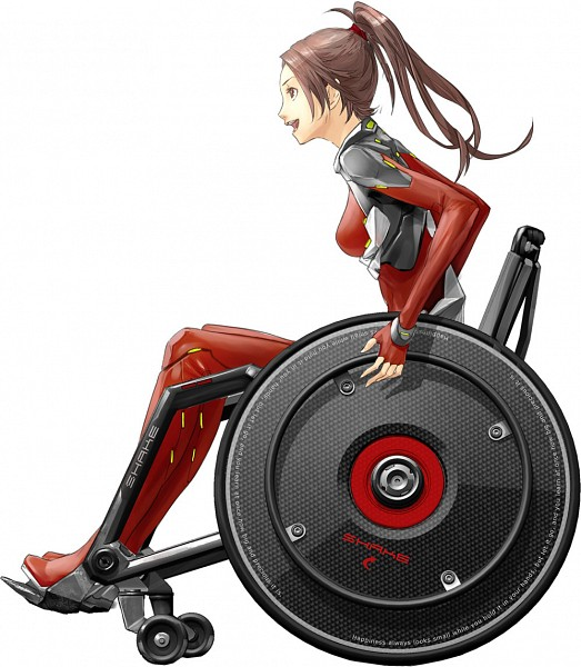 Tags: Anime, redjuice, GUILTY CROWN, Shinomiya Ayase, Wheelchair, Latex, Official Art, Funeral Parlor