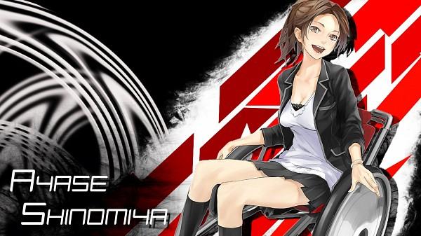 Tags: Anime, redjuice, GUILTY CROWN, Shinomiya Ayase, Wheel, Wheelchair, Funeral Parlor