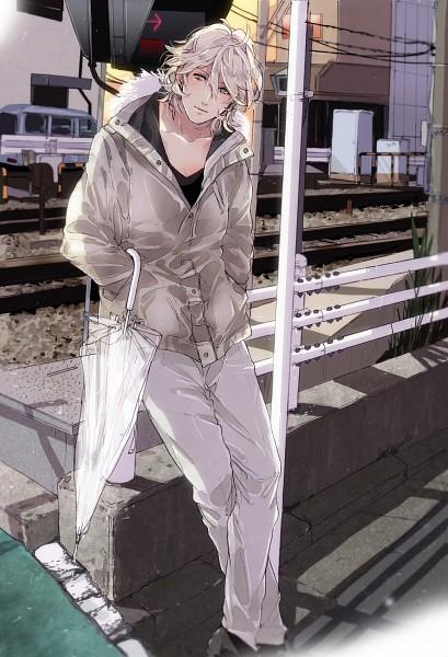 Tags: Anime, Mugomugo, Uta no☆prince-sama♪, Shinomiya Natsuki, Traffic Light, Mobile Wallpaper, Pixiv, Fanart