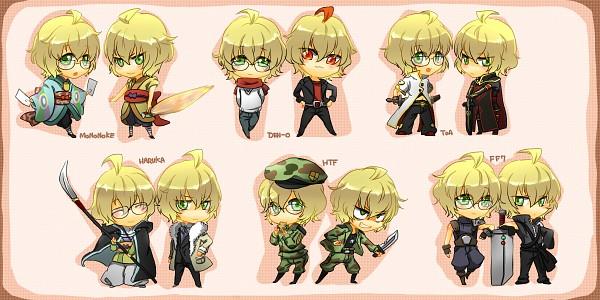 Tags: Anime, Pixiv Id 65211, Uta no☆prince-sama♪, Shinomiya Natsuki, Asch (Cosplay), Ryuutaros (Cosplay), Luke Fon Fabre (Cosplay), Momotaros (Cosplay), Nagigata, Cloud Strife (Cosplay), Flippy (Cosplay), Facebook Cover