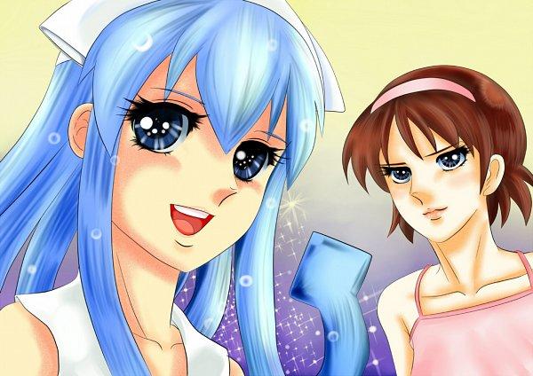 Tags: Anime, Tomoro 01, Shinryaku! Ikamusume, Ikamusume, Nagatsuki Sanae, Berusaiyu no Bara (Parody), Pixiv, Fanart From Pixiv, Fanart, Squid Girl (series)