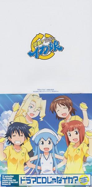 Tags: Anime, Diomedéa, Shinryaku! Ikamusume, Aizawa Eiko, Saito Nagisa, Cyndi Campbell, Ikamusume, Nagatsuki Sanae, CD (Source), Scan, Official Art, Squid Girl (series)