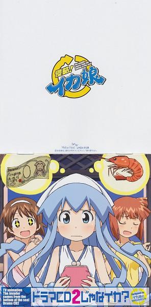 Tags: Anime, Diomedéa, Shinryaku! Ikamusume, Aizawa Eiko, Ikamusume, Nagatsuki Sanae, Scan, Official Art, CD (Source), Squid Girl (series)