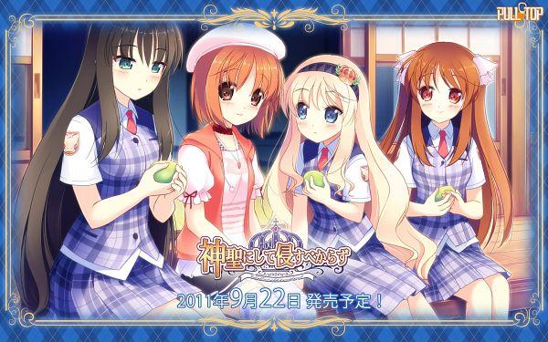 Tags: Anime, Watari Masahito, Pulltop, Shinsei Ni Shite Okasubekarazu, Haruka Ruha, Kunitomo Miori, Tsujigasaki Hiromi, Sanemaki Nozomi, Wallpaper, Official Art