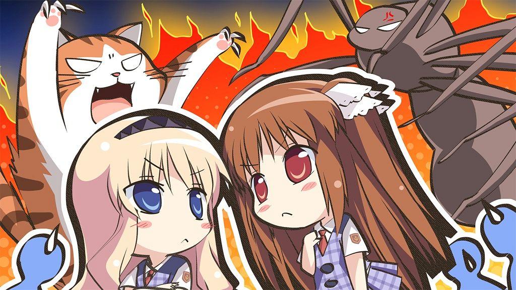 Tags: Anime, Taguchi Makoto, Pulltop, Shinsei Ni Shite Okasubekarazu, Haruka Ruha, Sanemaki Nozomi, Spider, Wallpaper, CG Art