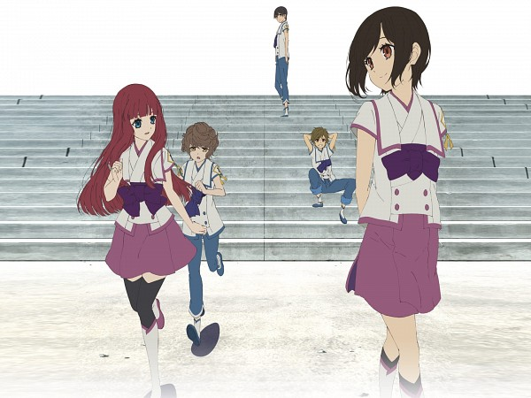 Tags: Anime, Shinsekai Yori, Watanabe Saki, Aonuma Shun, Asahina Satoru, Akizuki Maria, Itou Mamoru, Official Art, From The New World