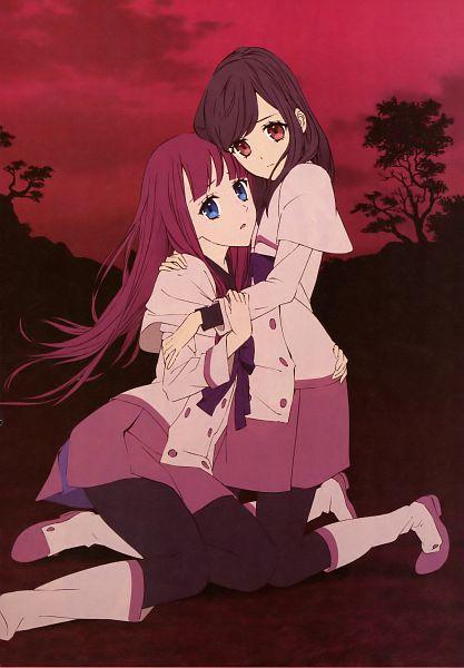 Tags: Anime, A-1 Pictures, Shinsekai Yori, Akizuki Maria, Watanabe Saki, Mobile Wallpaper, Official Art, Scan, From The New World