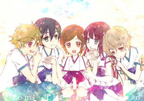 Tags: Anime, Pixiv Id 1707967, Shinsekai Yori, Asahina Satoru, Akizuki Maria, Itou Mamoru, Watanabe Saki, Aonuma Shun, From The New World
