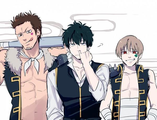 Tags: Anime, Gintama, Okita Sougo, Hijikata Toushirou, Kondo Isao, Out of Character, Picking Nose, PNG Conversion, Fanart, Twitter, Shinsengumi (Gin Tama)