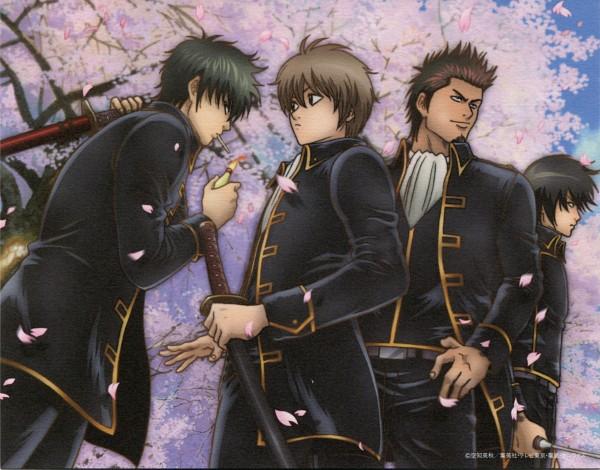 Tags: Anime, Sunrise (Studio), Gintama, Yamazaki Sagaru, Kondo Isao, Okita Sougo, Hijikata Toushirou, Scan, Official Art, Shinsengumi (Gin Tama)
