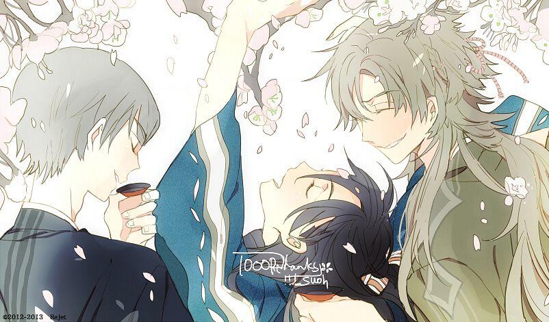 Tags: Anime, Suou, Rejet, Shinsengumi Mokuhiroku Wasurenagusa, Nagakura Shinpachi (Shinsengumi Mokuhiroku Wasurenagusa), Harada Sanosuke (Shinsengumi Mokuhiroku Wasurenagusa), Toudou Heisuke (Shinsengumi Mokuhiroku Wasurenagusa), Sakazuki, Official Art
