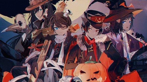 Tags: Anime, Pixiv Id 1460159, Touken Ranbu, Horikawa Kunihiro, Yamato no Kami Yasusada, Izumi no Kami Kanesada, Kashuu Kiyomitsu, Shinsengumi Swords