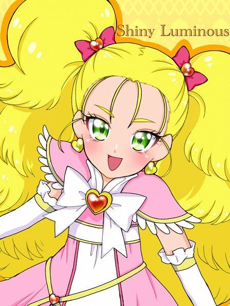 Tags: Anime, Pixiv Id 32013370, Futari wa Precure, Kujo Hikari, Shiny Luminous, Pink Armwear, Pixiv, Fanart From Pixiv, Fanart