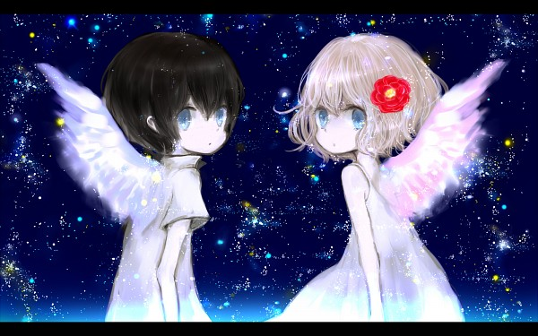 Tags: Anime, Milkuro, Original, Wallpaper, Shinzou Democracy, Nico Nico Singer, Pixiv, Heart Democracy