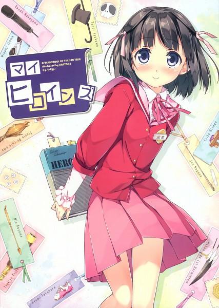 Tags: Anime, Kantoku, Kami nomi zo Shiru Sekai, My Heroines, Shiomiya Shiori, Pixiv, Mobile Wallpaper, Scan, Artbook Cover