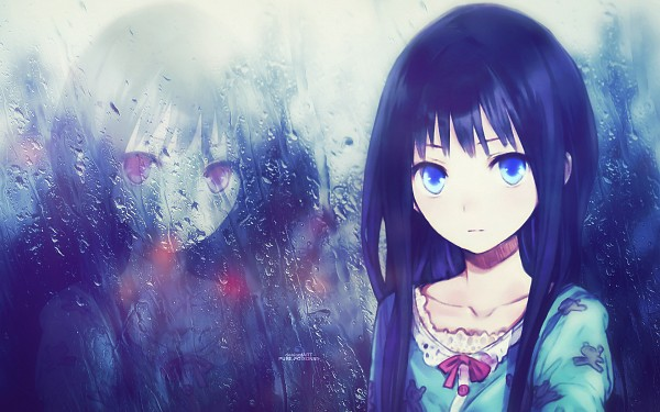 Tags: Anime, Pure-poison89, Kami-sama no Memo-chou, Shionji Yuuko, Wallpaper, Edited, Fanmade Wallpaper, deviantART