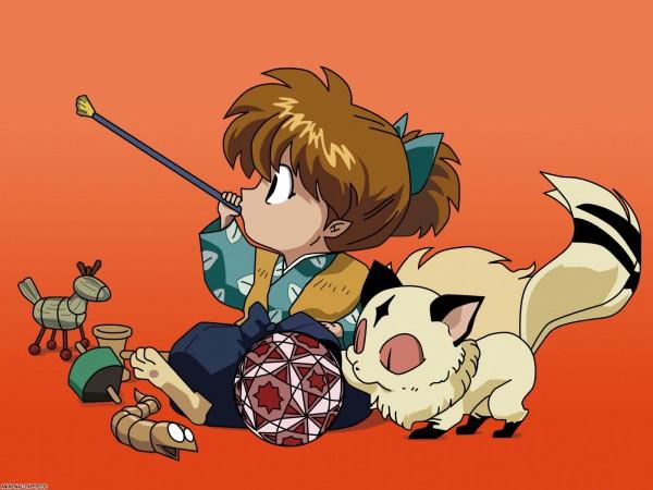Tags: Anime, InuYasha, Kirara, Shippo, Vector, Edited