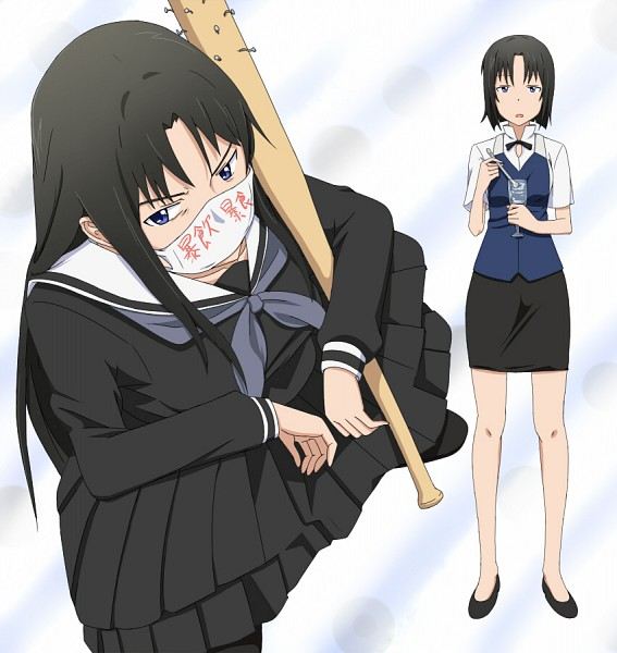 Tags: Anime, Ribonzu, Working!!, Shirafuji Kyouko, Yankee, Baseball, Nailbat, Pixiv
