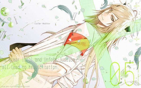 Tags: Anime, Hanamura Mai, Otomate, DESIGN FACTORY, Collar×Malice, Shiraishi Kageyuki, Official Wallpaper, Wallpaper, Official Art