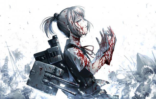 Tags: Anime, Hetza (Hellshock), Kantai Collection, Shiranui (Kantai Collection), Blank Stare