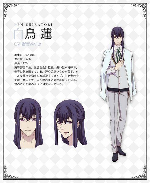 Tags: Anime, Satou Akiko, Silver Link, Butlers: Chitose Momotose Monogatari, Shiratori Ren (Butlers), Official Art, Character Sheet, Cover Image