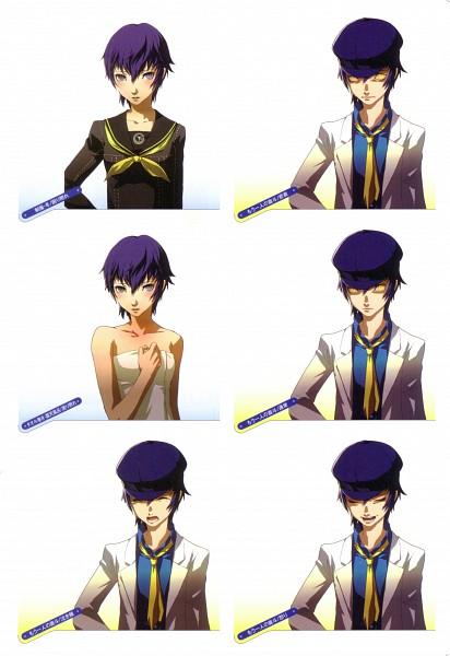 Tags: Anime, Soejima Shigenori, Atlus, P4 Official Design Works, Shin Megami Tensei: PERSONA 4, Shirogane Naoto, Oversized Clothes, Character Sheet, Official Art, Mobile Wallpaper