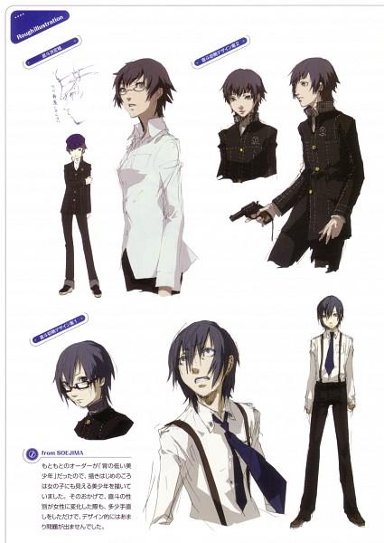 Tags: Anime, Soejima Shigenori, Atlus, P4 Official Design Works, Shin Megami Tensei: PERSONA 4, Shirogane Naoto, Mobile Wallpaper, Character Sheet, Official Art