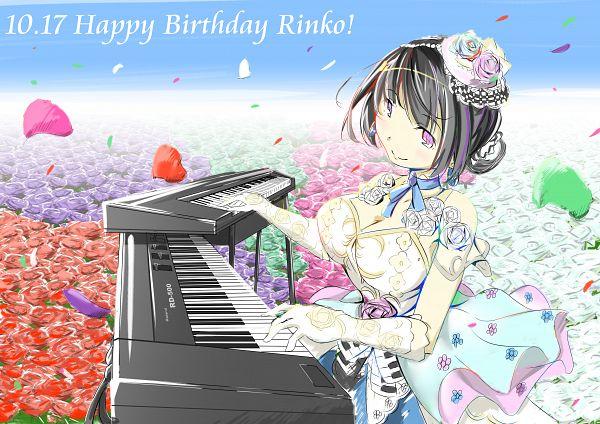 Tags: Anime, Pixiv Id 1940560, BanG Dream! Girls Band Party!, Shirokane Rinko, Playing Piano