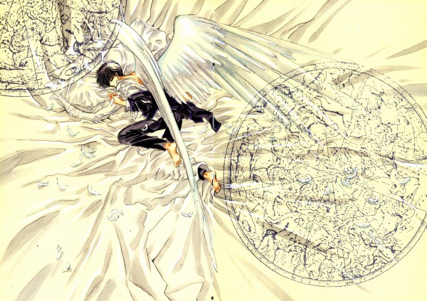 Tags: Anime, CLAMP, X, X Zero, Shirou Kamui, Official Art, Scan