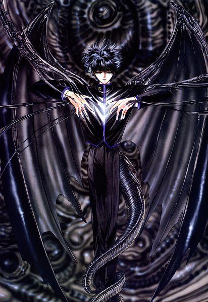 Tags: Anime, CLAMP, X, X Zero, Shirou Kamui, Dragon Tail, Official Art, Mobile Wallpaper, Scan