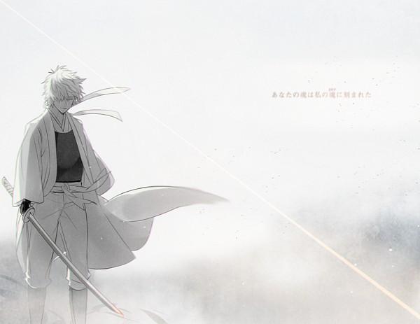 Tags: Anime, 138 (Artist), Gin Tama, Sakata Gintoki, Shiroyasha, Joui War, Twitter, Fanart