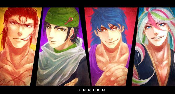 Tags: Anime, Pixiv Id 335075, Toriko, Zebra (Toriko), Coco (Toriko), Sani (Toriko), Toriko (Character), Ear Cuff, Pixiv, Fanart, Shitennou