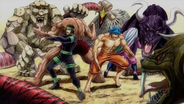 Tags: Anime, Shimabukuro Mitsutoshi, Toriko, Coco (Toriko), Sani (Toriko), Toriko (Character), Zebra (Toriko), Screenshot, Wallpaper, Shitennou