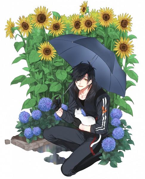 Tags: Anime, Pixiv Id 3355353, Touken Ranbu, Shokudaikiri Mitsutada, White Cat, Pixiv