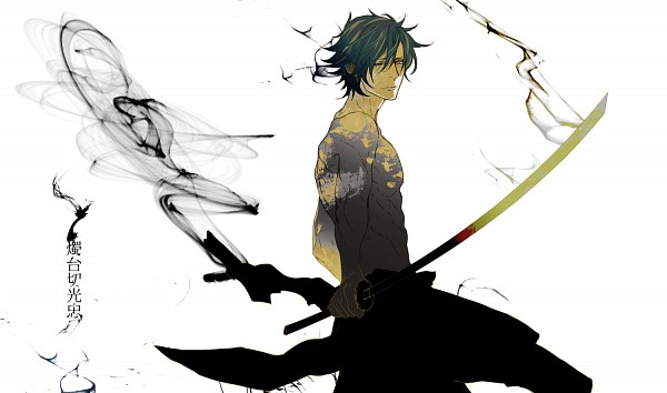 Tags: Anime, NPN, Touken Ranbu, Shokudaikiri Mitsutada, PNG Conversion