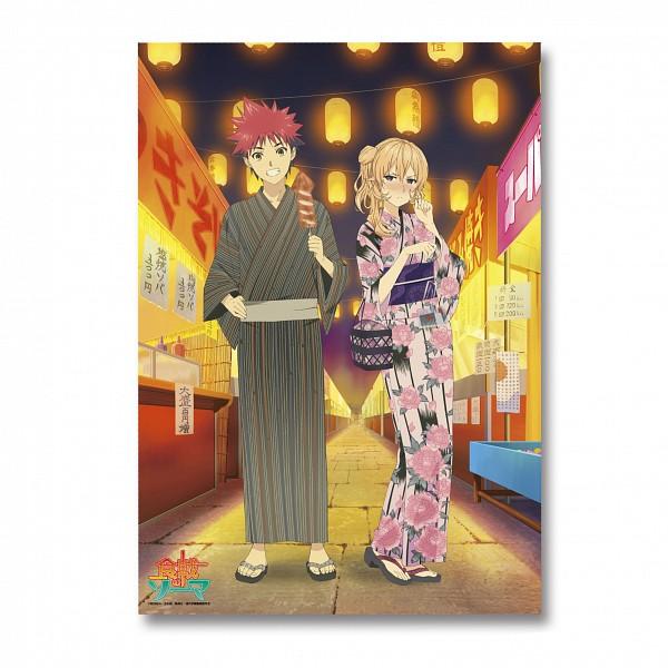 Tags: Anime, J.C.STAFF, Shokugeki no Souma, Yukihira Souma, Nakiri Erina, Festival, Official Art, Food Wars!