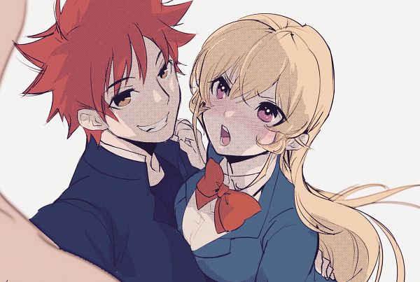 Tags: Anime, Pixiv Id 652648, Shokugeki no Souma, Nakiri Erina, Yukihira Souma, Fanart From Pixiv, Pixiv, Fanart, Food Wars!