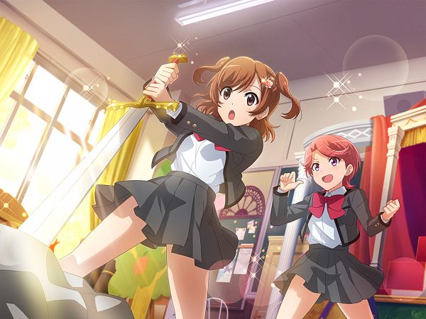 Tags: Anime, Ateam, Shoujo☆Kageki Revue Starlight, Shoujo☆Kageki Revue Starlight -ReLIVE-, Aijou Karen, Isurugi Futaba, Official Card Illustration, Official Art, Revue Starlight Re Live
