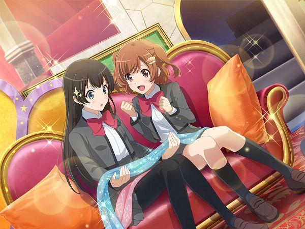 Tags: Anime, Ateam, Shoujo☆Kageki Revue Starlight, Shoujo☆Kageki Revue Starlight -ReLIVE-, Kagura Hikari, Aijou Karen, Official Card Illustration, Official Art, Revue Starlight Re Live