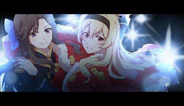 Tags: Anime, Pixiv Id 4776658, Shoujo☆Kageki Revue Starlight, Tendou Maya, Saijou Claudine, Fanart